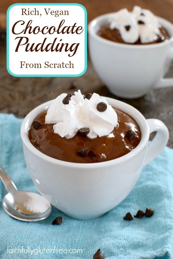 Rich, Vegan Chocolate Pudding from Scratch