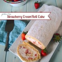 Gluten Free Strawberry Cream Roll Cake