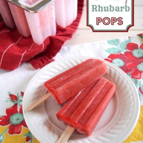 Strawberry Rhubarb Pops