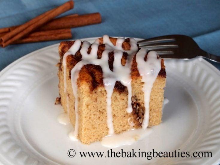Gluten-Free and Dairy-Free Cinnamon Bun Cake