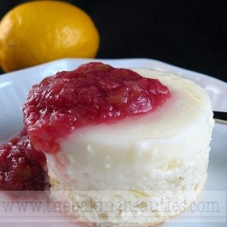 Gluten Free Citrus Sponge Pudding with Rhubarb Sauce