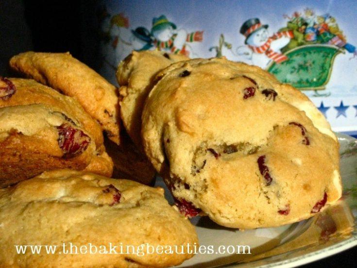 Gluten-Free White Chocolate & Cranberry Cookies
