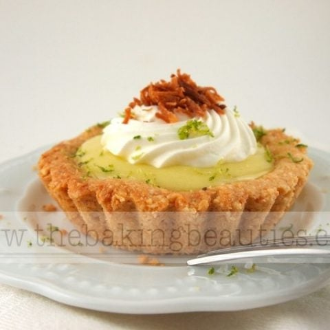 Gluten Free Creamy Lime and Coconut Tarts
