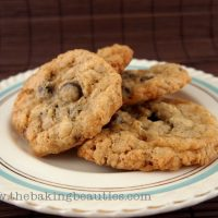 Thin, Crisp Gluten-Free Oatmeal Chocolate Chip Cookies