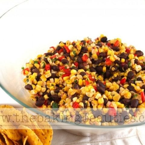 Colorful Grilled Corn Salad