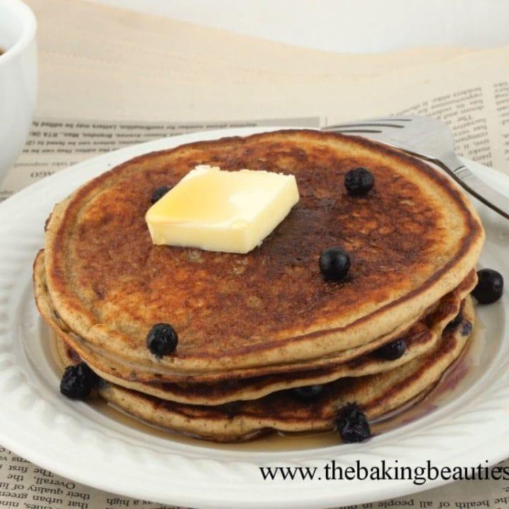 Gluten-free Oatmeal Blender Pancakes