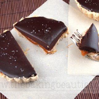 Gluten Free Chocolate and Salted Caramel Tarts