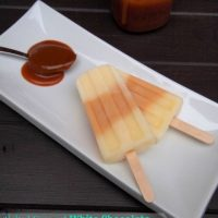 Salted Caramel White Chocolate Pudding Pops