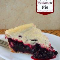 Gluten Free Saskatoon Pie {Prairie Fruit Cookbook review}