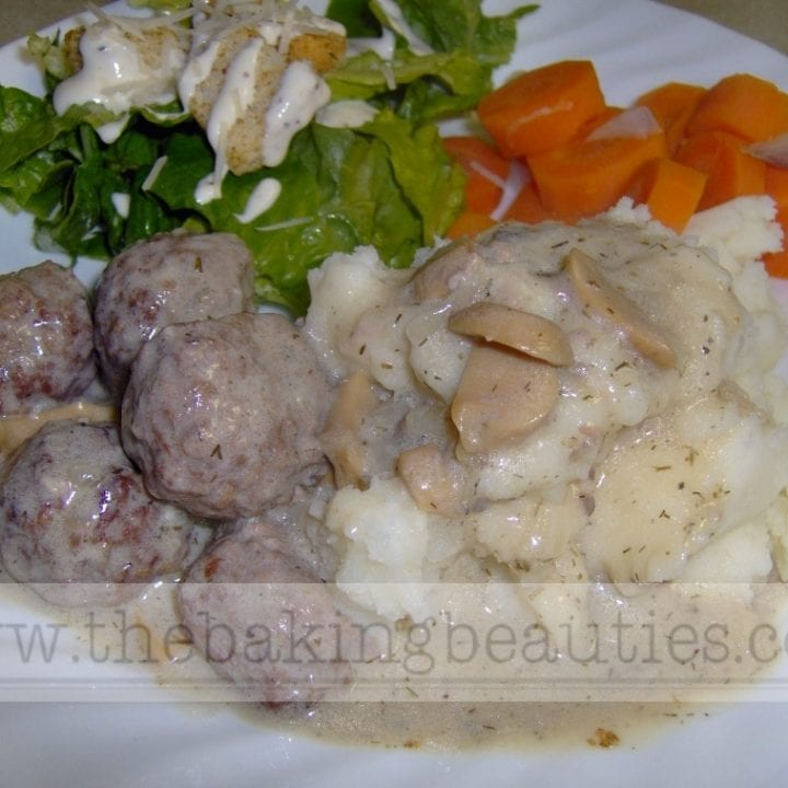 Versatile Meatballs with Mushroom Dill Sauce