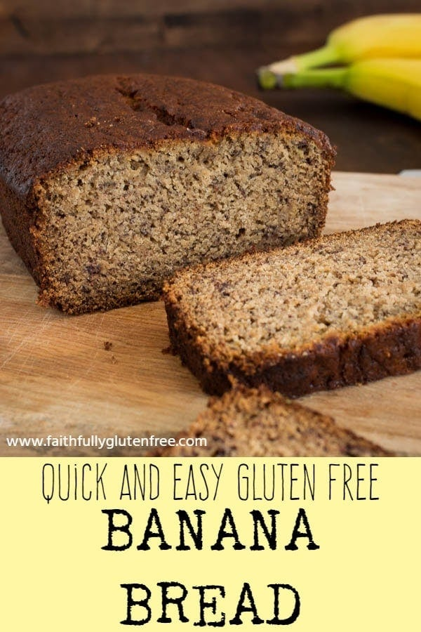 sliced gluten free banana bread