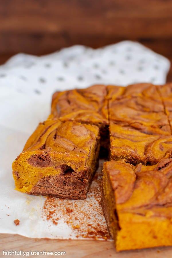 Cut up Pumpkin Brownies