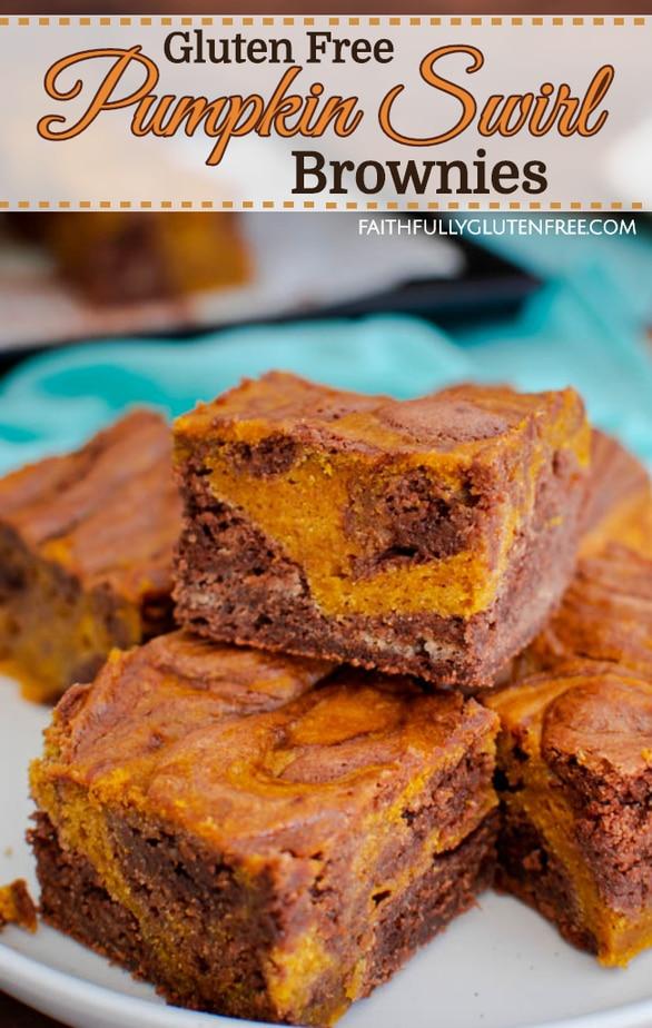 Gluten Free Pumpkin Swirl Brownies recipe