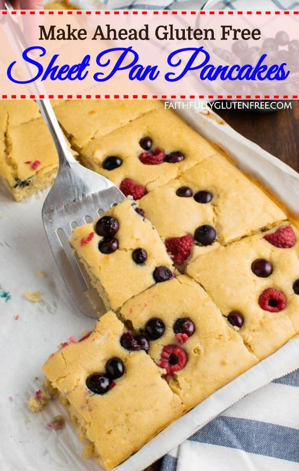 Make-Ahead Gluten Free Sheet Pan Pancakes Recipe