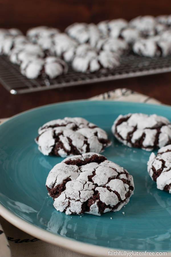 Gluten Free Chocolate Crinkle Cookies