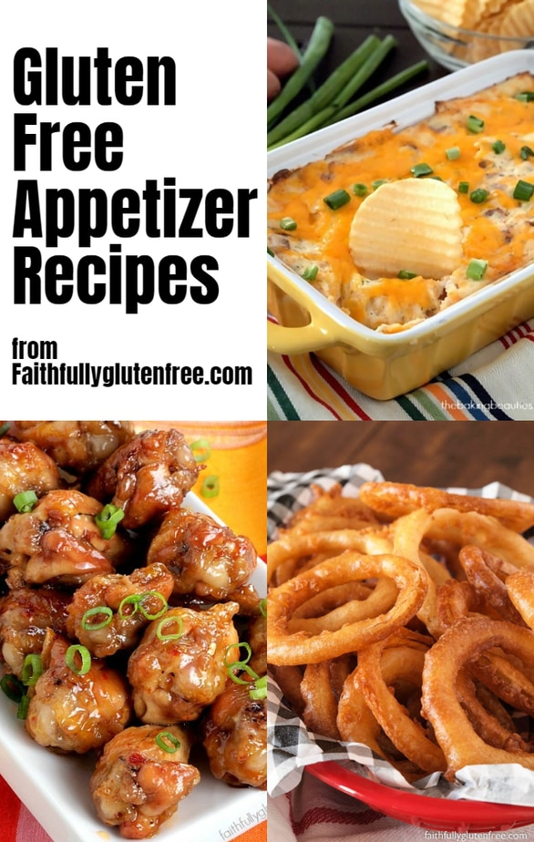 A collage of appetizer photos