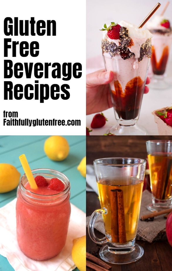 Collage of beverage recipes