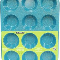 casaWare Ceramic Coated NonStick 12 Cup Muffin Pan (Blue Granite)
