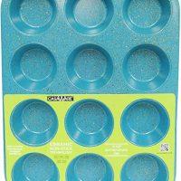 casaWare Ceramic Coated NonStick 12 Cup Muffin Pan (Blue Granite)