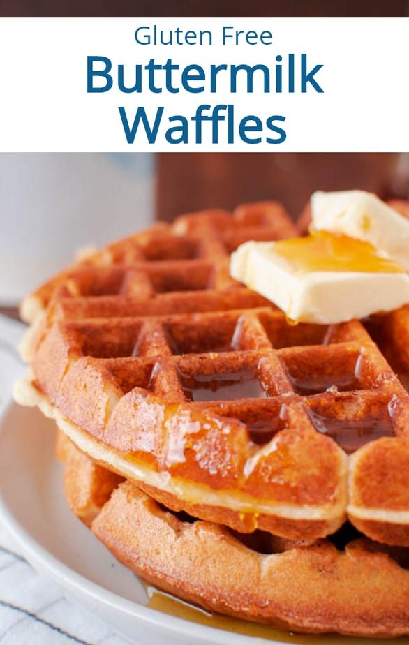Crispy Gluten Free Buttermilk Waffles