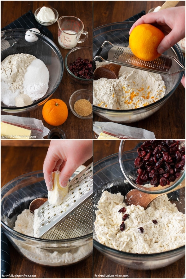 Step by Step pictures to make scones
