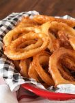 These crispy gluten free Onion Rings are better than any take-out I've ever had, even before having to eat gluten free.
